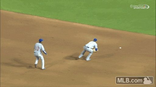 Synchronized ... throwing?? So silly Starlin Castro.