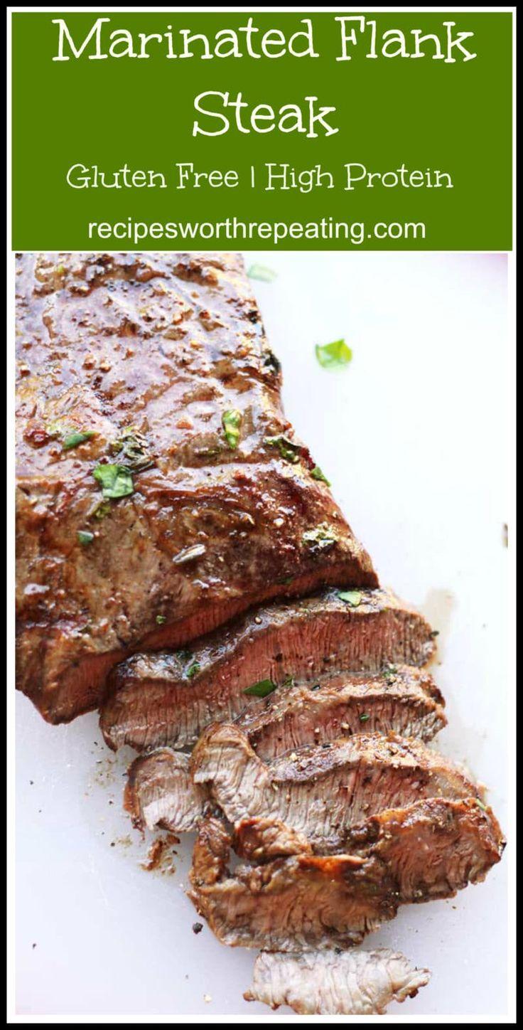 A melt in your mouth Flank steak that is grilled on the barbie and perfect for your any cookout! An overnight marinade of soy sauce, red wine vinegar and garlic puts the flavor over the top for this cut of meat.