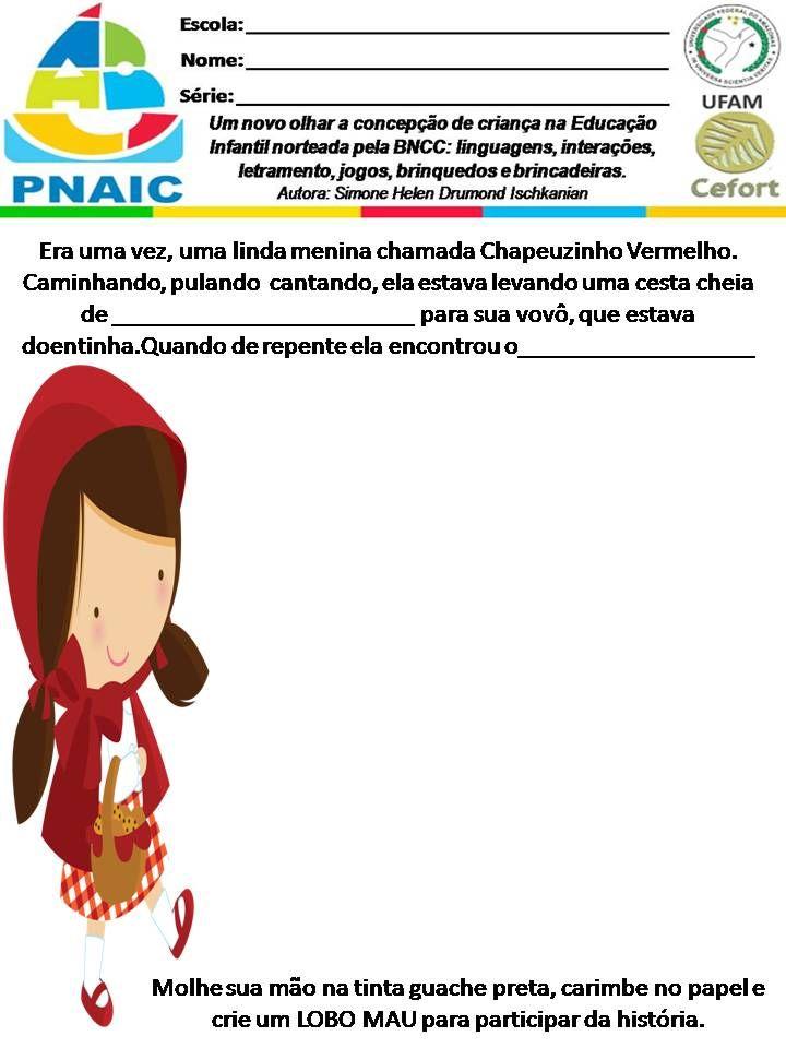 Atividades Escolares Chapeuzinho Vermelho Simone Helen Drumond