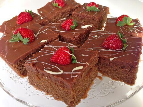 Her kommer oppskriften på langpanne-sjokoladekaken som jeg hadde i kveldens program. På tv ble de...