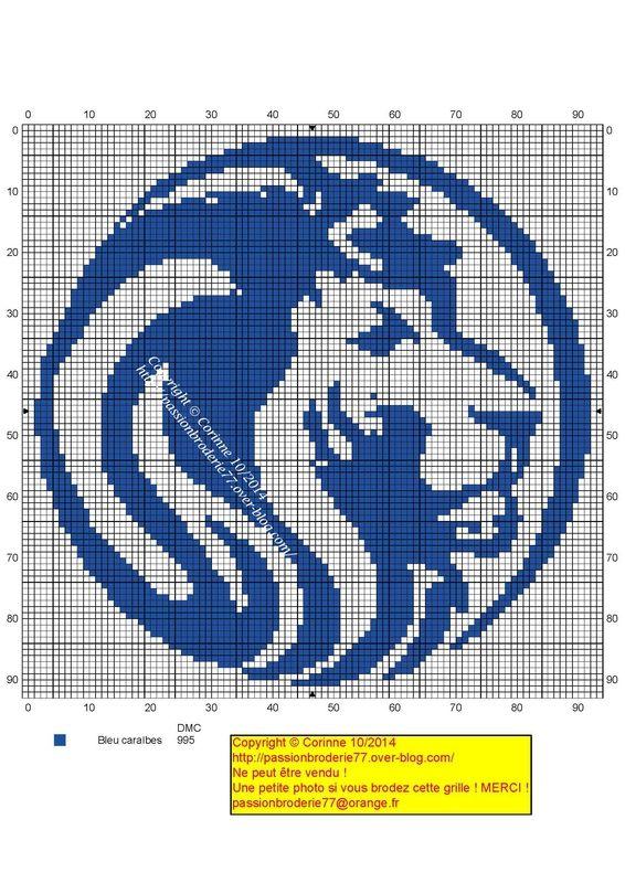 Lion bleu