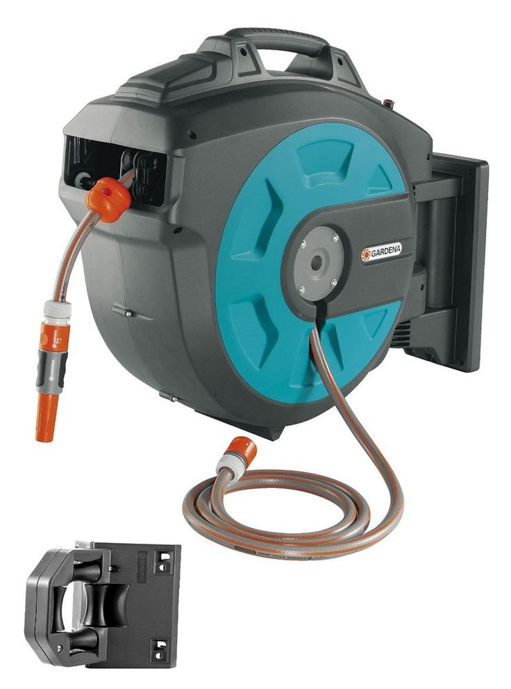 Garden Hose Reel Retractable Water 82 Ft Automatic Swivel Wall Mount  Storage New