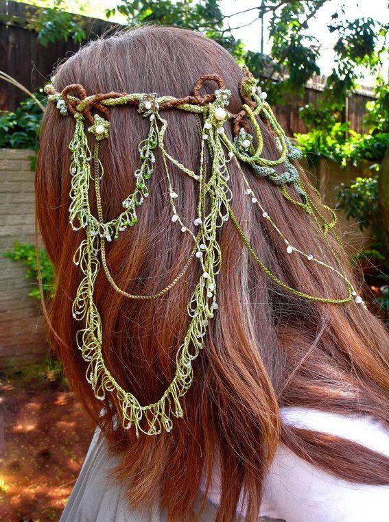 Beautiful elven headdress