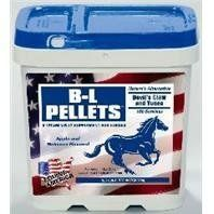 B-L PELLETS - 625783 by EQUINE AMERICA. $113.40. Size - 10 POUND. Wheat Middling s, Alfalfa Meal, Dried Molasses, Yucca Schidigera Extract, Mineral Oil, Devils Claw Rood, Natural And Artificial Flavors, Vitamin B-12. Horse journals three-time number one ranked natural pain relief formula, in a concentrated pellet form. Made from wheat middling s, alfalfa meal, dried molasses, yucca schidigera extract, mineral oil, devils claw root. Feed 1 oz per 1100 pounds (scoop enclosed). ).