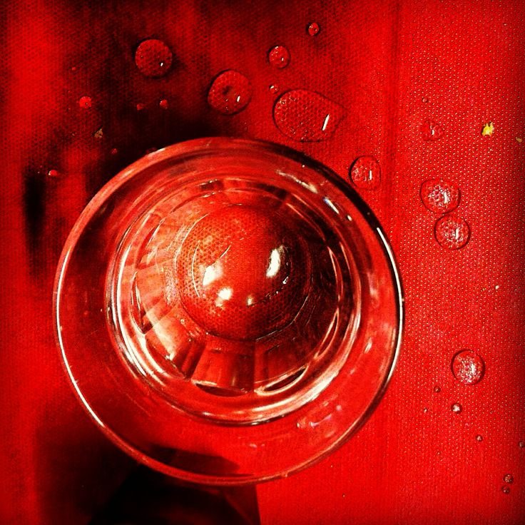 Red carpet for a glass of water