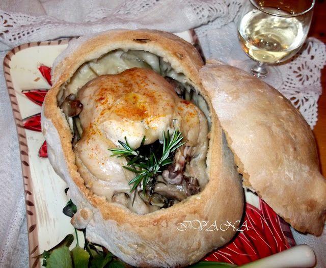 Пиле в хлебна кора - Pollo in crosta di pane