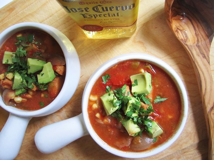 Slow Cooker Chicken Tequila Soup | From the Little Yellow Kitchen