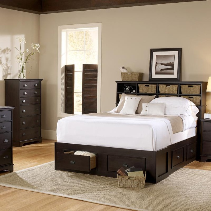 lang furniture windward espresso maple cubby admiral bed in full queen and king nebraska furniture martbedroom setsmaster