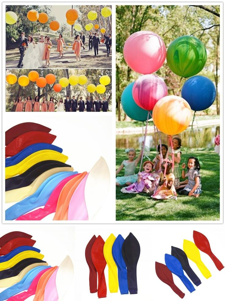 [Visit to Buy] 1PC Wedding Valentine Party Round 45CM Colorful Giant Balloon 18inch Decorate Balloon Party Birthday Decorate Balloon #Advertisement