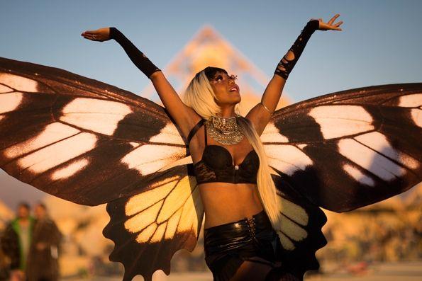 #Burning Man butterfly goddess