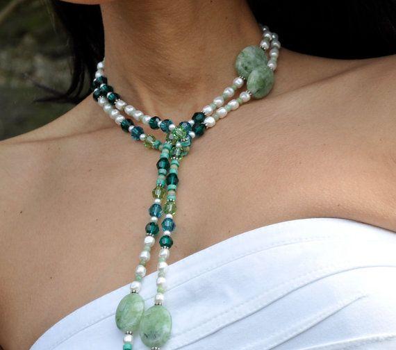 Emerald Lariat Necklace