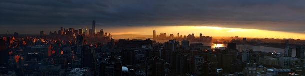 Sunset over Lower Manhattan and Jersey City  #city #sunset #lower #manhattan #jersey #photography