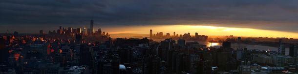 Lower Manhattan and Jersey City