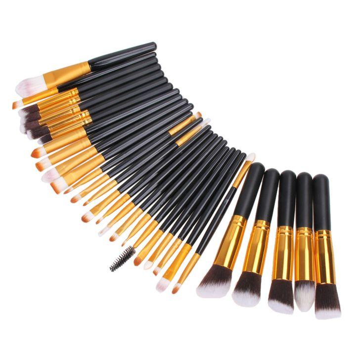 30 Pcs Pro Makeup Brush Set Powder Eyeshadow Eyeliner Eyebrow Blush Foundation Brush Pinceis Cosmetic Make Up Brushes Tools Kits