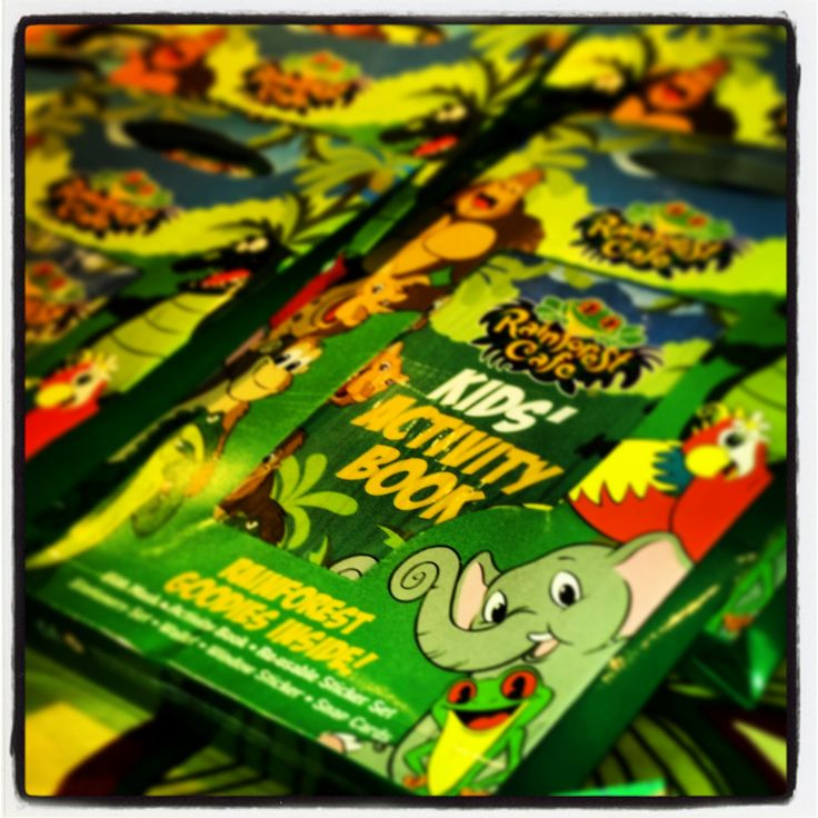 At the Rainforest Cafe we have fantastic Birthday party bags available. Full of fun toys and activities they are the perfect addition to any Children's Birthday party!