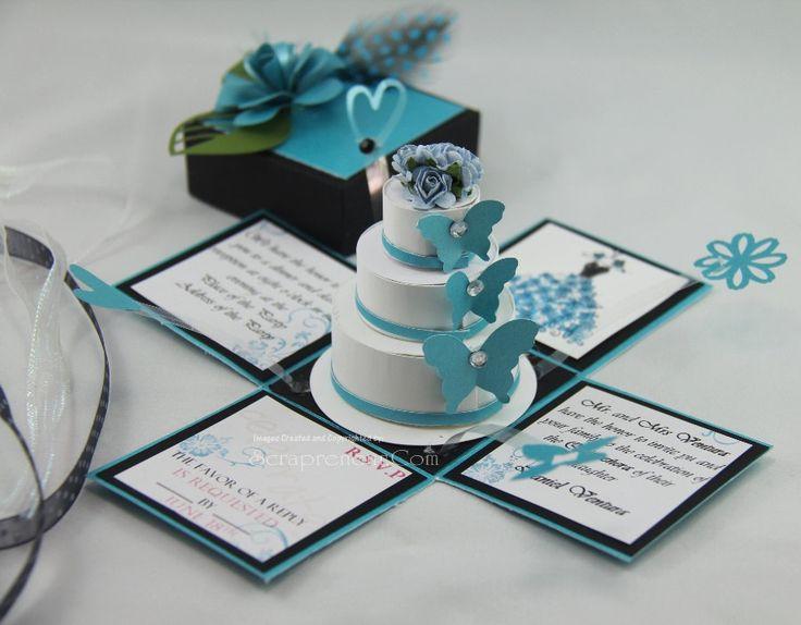 Exploding Box Invitation & 3-Tier Cake PDF Tutorials :)