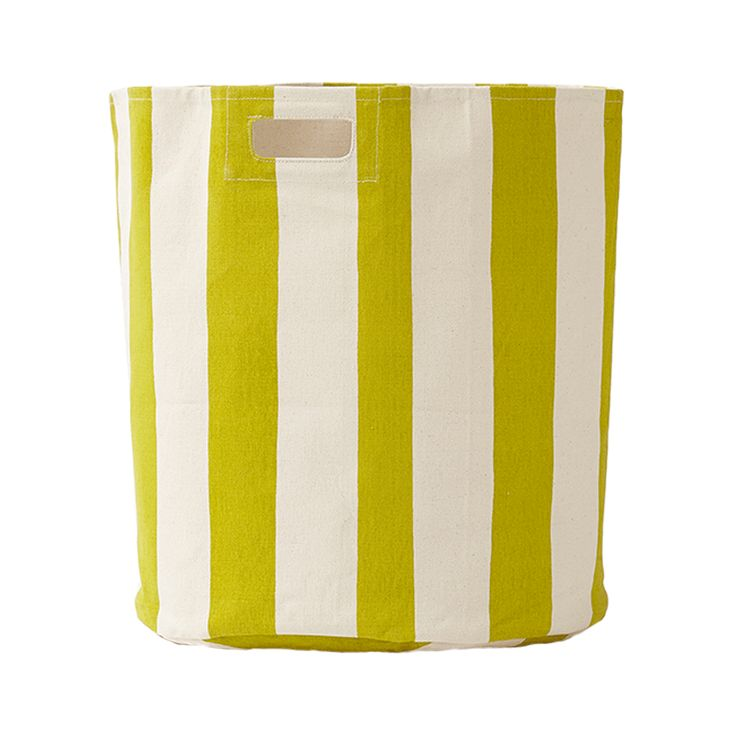 Pehr Designs - Citron Stripe Hamper #petitpehrdreamnursery @pehrdesigns