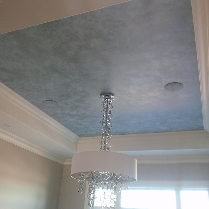 three tone metallic ceiling finish with modern masters