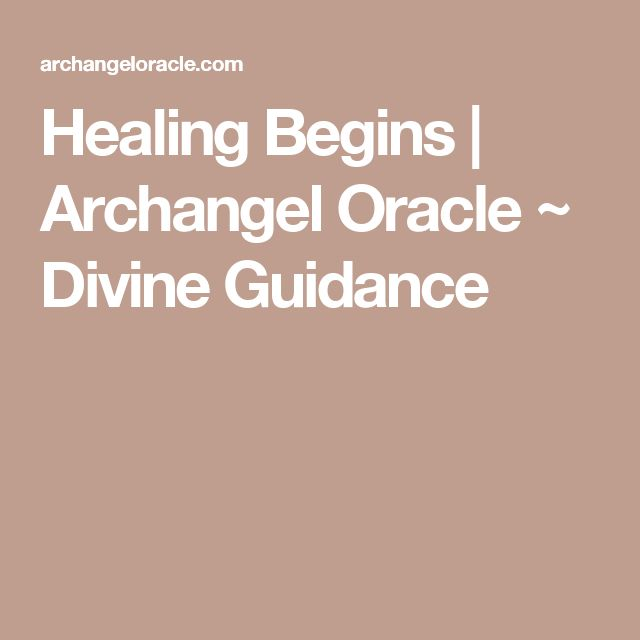 Healing Begins | Archangel Oracle ~ Divine Guidance
