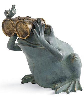 I spy...a fun loving frog to make your garden stand out!