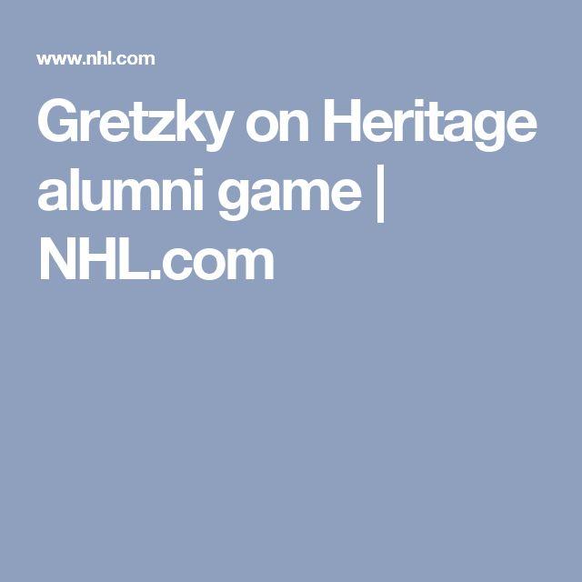 Gretzky on Heritage alumni game | NHL.com