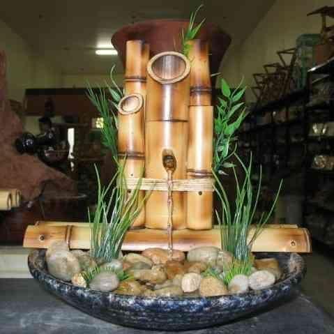 Fonte de água em bambu e outros - da BamBooZeira - Design http://bamboozeira.blogspot.com