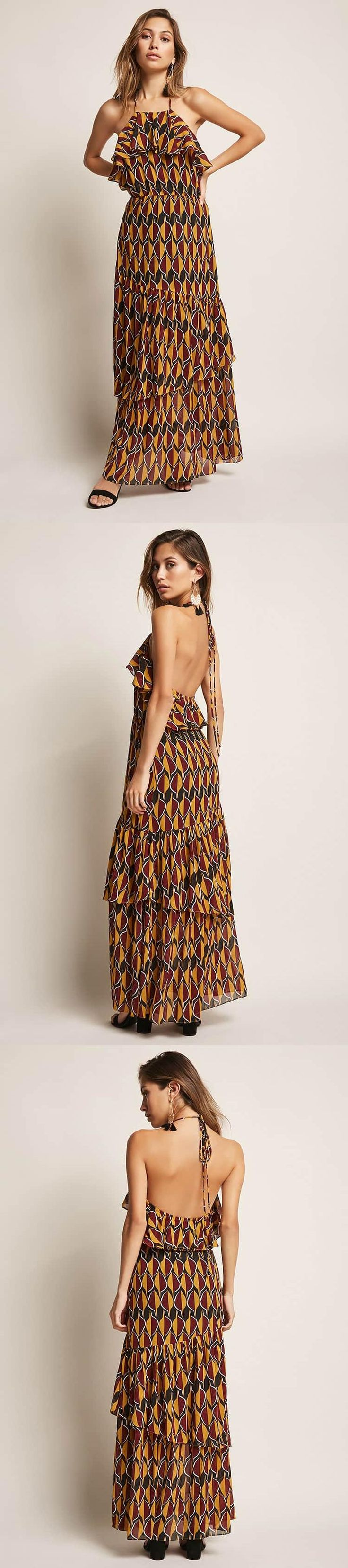 Halter Maxi Dress // 58.00 USD // Forever 21