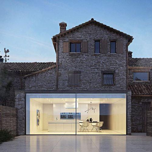 When #Old and #New meet! What do you think? This house is a concept designed and visualized by Gabriele Vacca of Zeronove #restlessarch - Architecture and Home Decor - Bedroom - Bathroom - Kitchen And Living Room Interior Design Decorating Ideas - #architecture #design #interiordesign #homedesign #architect #architectural #homedecor #realestate #contemporaryart #inspiration #creative #decor #decoration