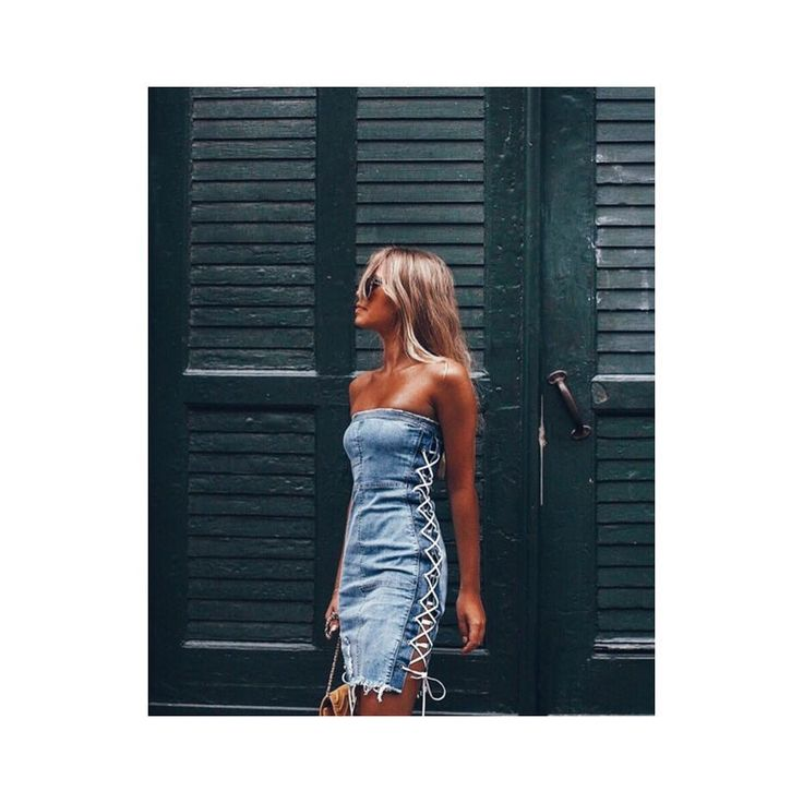 """2,407 Likes, 15 Comments - MISSGUIDED (@missguided) on Instagram: """"Code blue ✨✨✨ @jjjossan is giving us life in our denim lace-up dress. Make it yours from our bio…"""""""