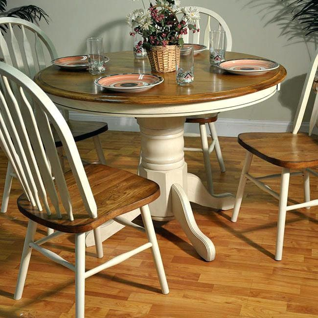 White Wood Round Dining Table The Home Design Exquisite Painted