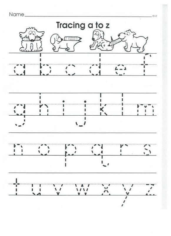Lower Case Alphabet Tracing Worksheets for Kids Activity