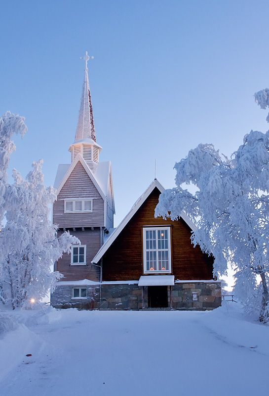 Karesuando, Sweden. (I lived right behind this church)