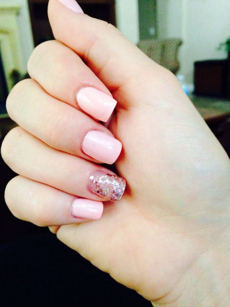 Carlybow Nails: Pink And Sparkle Nail Design. Nail Country, LV.