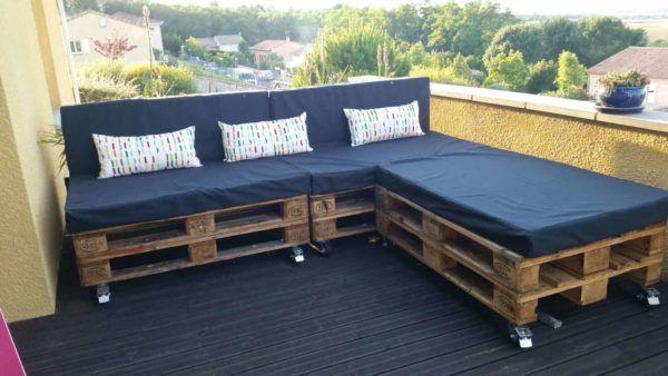 A Classic Garden Pallet Sofa Canape Palette Fabriquer Un Canape