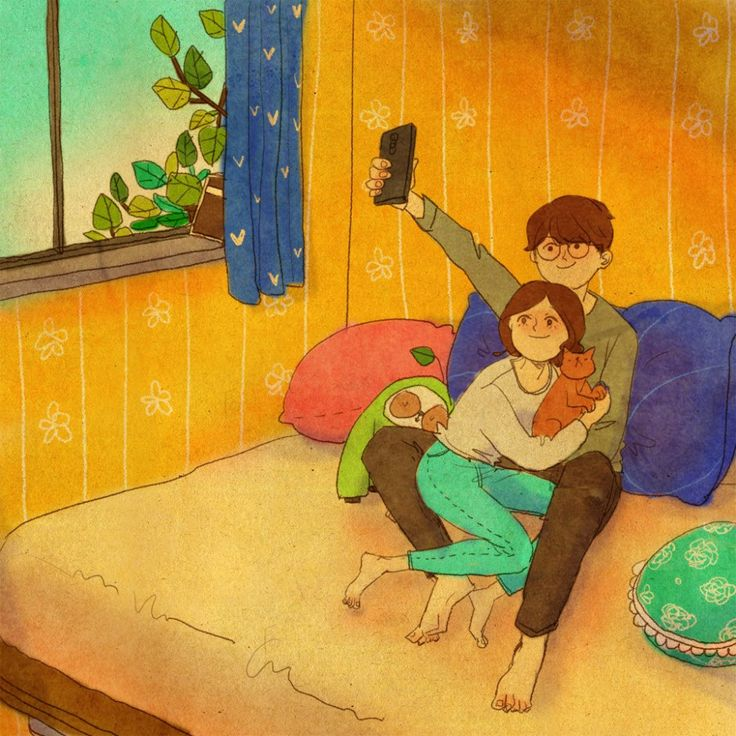 puuung-love-is-illustration-art-book-cosmic-orgasm-lovers-daily-life-small-things-selfie-family-portrait