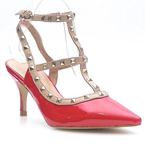 Kayla shoes Damen Elegante Design Stiletto Pumps LL59 Red 39 - http://on-line-kaufen.de/kayla-shoes/39-eu-kayla-shoes-damen-elegante-design-stiletto-12