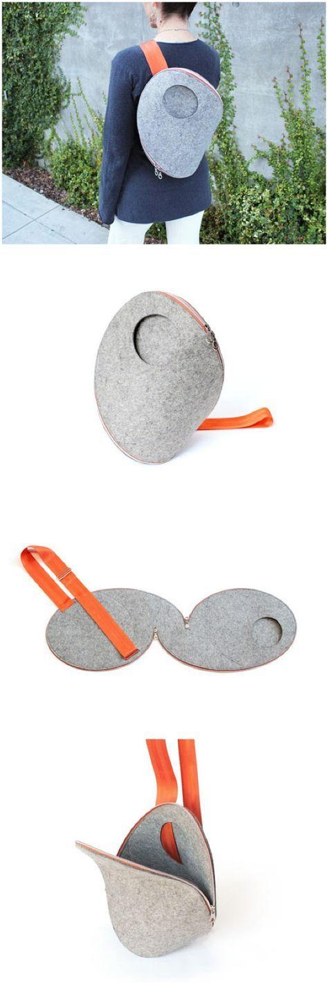 Ganz spezielle Form. Kann aus Leder oder Filz oder Microfaserstoff /Polsterstoff hergestellt werden.