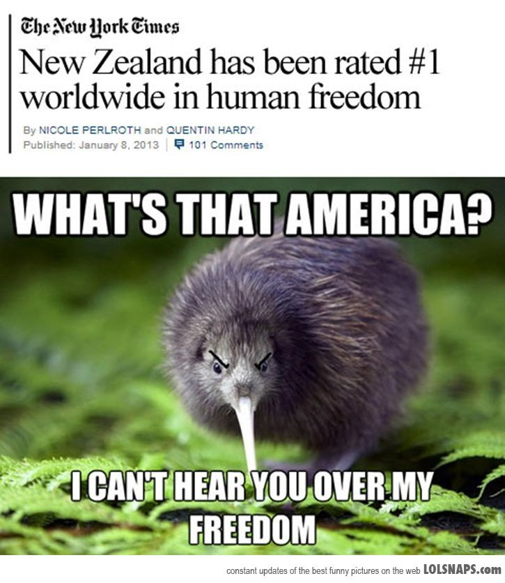What does that even mean? #1 in human freedom? Does that mean people in New Zealand go around peeing on hamburgers with no consequences??