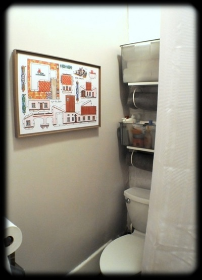 space saving shelves above toilet   – New House Ideas?