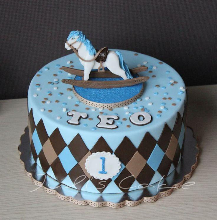 Rocking Horse Birthday Cake