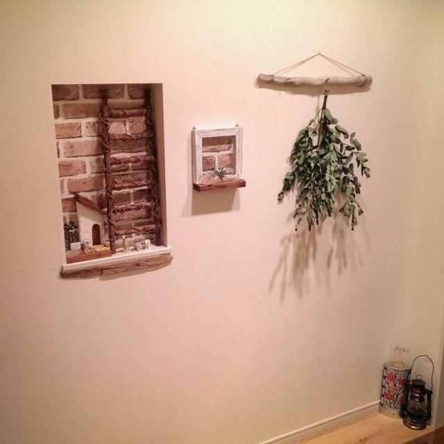 Pin By Chirine Khalaf On Home Interior: DIY/セリア/玄関/入り口/ナチュラル/リメイクシート/流木...などのインテリア実例