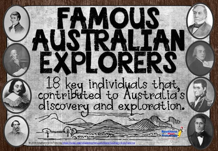 These high quality posters, feature 18 key individuals that lead to the discovery and further exploration of Australia. Each poster features the individual's name, date of birth and death, what they are famous for and a photograph or sketch of the individual. 21 pages for $2!