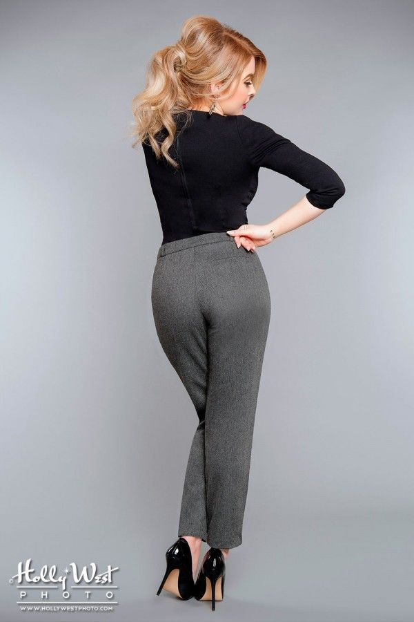 Final Sale - Karen Pants in Dark Grey