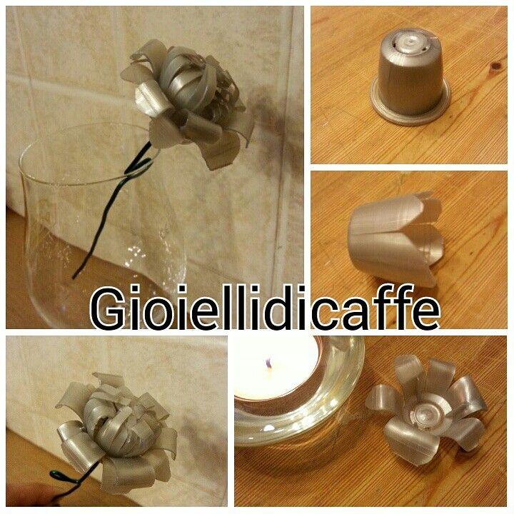 Fiore realizzato con capsule Pellini compatibili Nespresso - Gioiellidicaffe