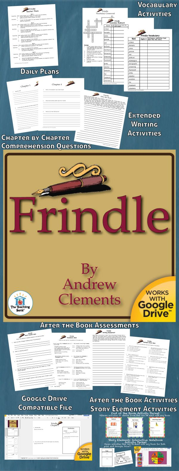 Frindle Novel Study Is Amon Core Standard Aligned Book Unit To Be Used  With Frindle
