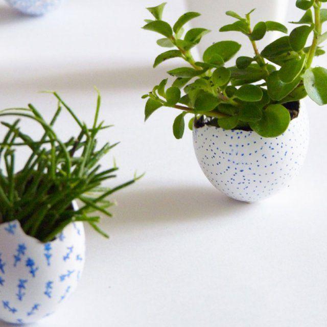 Des œufs au style botanique / DIY Paques / Diy easter