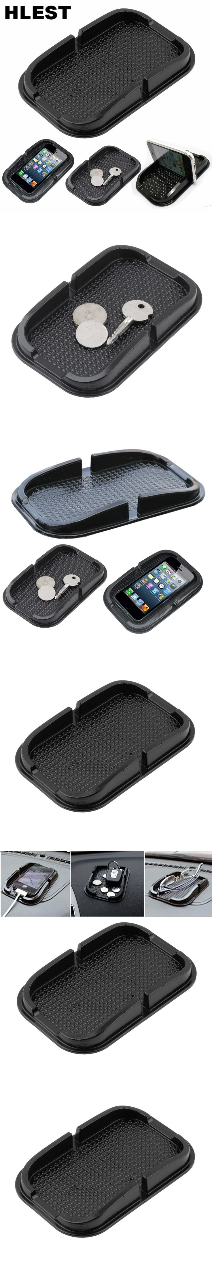 Universal Multifuction In Car Dashboard Non Slip Durable Grip Pad Smartphone GPS Holder Portable Black Silicone Mat