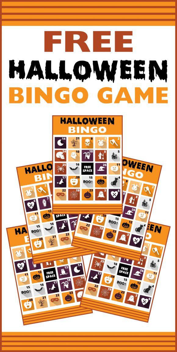 Free Printable Halloween Bingo Cards, great party activity for kids and adults! | CatchMyParty.com