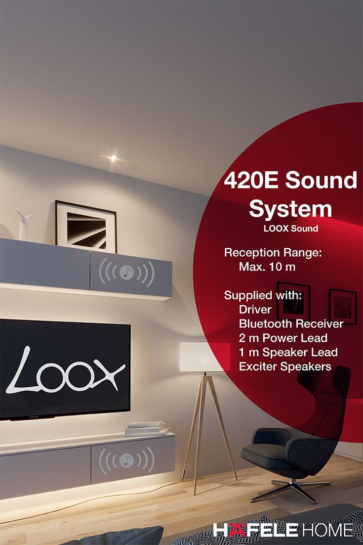 The Loox Sound System 420e With Exciter Speakers Is An Invisible Sound System That Is Ingeniously Developed To Be Ins Home Technology Hafele Bluetooth Receiver