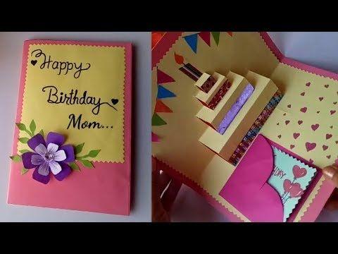 Diy Cake Pop Up Card For Birthday Diy Birthday Day Card Youtube Birthday Cards Diy Birthday Card Pop Up Birthday Card Craft